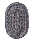 RugStudio presents Colonial Mills Oak Harbour OH98 Graphite Braided Area Rug