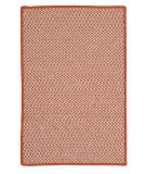 RugStudio presents Colonial Mills Outdoor Houndstooth Tweed Ot19 Orange Braided Area Rug