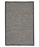 RugStudio presents Colonial Mills Outdoor Houndstooth Tweed Ot49 Black Braided Area Rug
