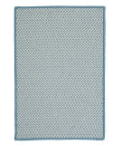 RugStudio presents Colonial Mills Outdoor Houndstooth Tweed Ot56 Sea Blue Braided Area Rug