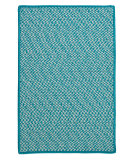RugStudio presents Colonial Mills Outdoor Houndstooth Tweed Ot57 Turquoise Braided Area Rug