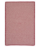 RugStudio presents Colonial Mills Outdoor Houndstooth Tweed Ot79 Sangria Braided Area Rug