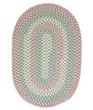 RugStudio presents Colonial Mills Carousel Ou69 Bubble Green Braided Area Rug
