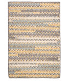 RugStudio presents Colonial Mills Print Party - Rects Py39 Shaded Yellow Braided Area Rug