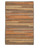 RugStudio presents Colonial Mills Print Party - Rects Py49 Rusted Vine Braided Area Rug