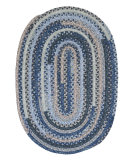 RugStudio presents Colonial Mills Print Party - Ovals Py59 Denim Wash Braided Area Rug