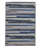 RugStudio presents Colonial Mills Print Party - Rects Py59 Denim Wash Braided Area Rug