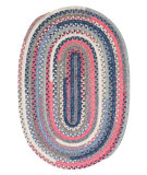 RugStudio presents Colonial Mills Print Party - Ovals Py79 Crushed Coral Braided Area Rug