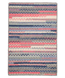 RugStudio presents Colonial Mills Print Party - Rects Py79 Crushed Coral Braided Area Rug