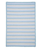 RugStudio presents Colonial Mills Seascape Se10 Sky Blue Braided Area Rug