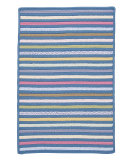 RugStudio presents Colonial Mills Bright Stripe Se51 Morning Dew Braided Area Rug