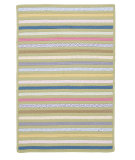 RugStudio presents Colonial Mills Bright Stripe Se61 Lemongrass Braided Area Rug