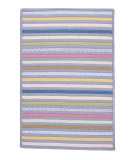RugStudio presents Colonial Mills Bright Stripe Se91 Amethyst Braided Area Rug