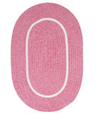 RugStudio presents Colonial Mills Silhouette Sl77 Pink Braided Area Rug