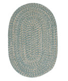 RugStudio presents Colonial Mills Tremont Te49 Teal Braided Area Rug