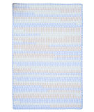 RugStudio presents Colonial Mills Ticking Stripe Tk58 Starlight Braided Area Rug