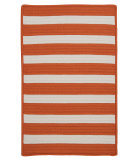 RugStudio presents Colonial Mills Stripe It Tr19 Tangerine Braided Area Rug