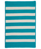 RugStudio presents Colonial Mills Stripe It Tr49 Turquoise Braided Area Rug