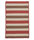 RugStudio presents Colonial Mills Stripe It Tr99 Terracotta Braided Area Rug