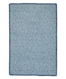 RugStudio presents Colonial Mills Twisted Tw59 Puddle Blue Braided Area Rug
