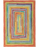 RugStudio presents Company C Concentric Squares 18143 Multi Hand-Hooked Area Rug