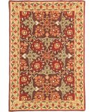 RugStudio presents Company C Iznik Tiles 18236 Brown Hand-Tufted, Good Quality Area Rug