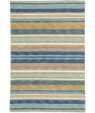 RugStudio presents Company C Sheffield Stripe 19045 Sea Hand-Hooked Area Rug