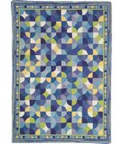 RugStudio presents Rugstudio Sample Sale 51873R Blue Hand-Hooked Area Rug