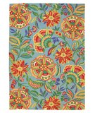 RugStudio presents Company C Sarasa 18552 Pool Hand-Hooked Area Rug