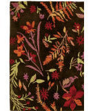 RugStudio presents Company C Autumn Botanical 18861 Black Bean Hand-Hooked Area Rug