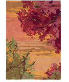 RugStudio presents Company C Landscape 18862 Crimson Hand-Hooked Area Rug
