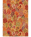 RugStudio presents Company C Perennials 18863 Crimson Hand-Hooked Area Rug