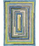 RugStudio presents Company C Concentric Squares 18143 Sky Hand-Tufted, Best Quality Area Rug