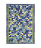 RugStudio presents Company C Dottie 18476 Blue Hand-Hooked Area Rug