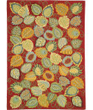 RugStudio presents Company C Foliage 18532 Chili Hand-Hooked Area Rug