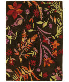 RugStudio presents Company C Autumn Botanical 18861 Black Bean Hand-Tufted, Best Quality Area Rug