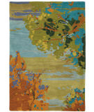 RugStudio presents Company C Landscape 18862 Teal Hand-Tufted, Best Quality Area Rug