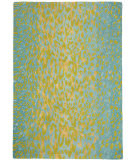 RugStudio presents Company C Leopard 18924 Aqua Hand-Tufted, Best Quality Area Rug