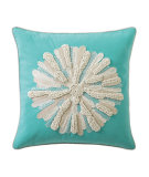 RugStudio presents Company C Asters Pillow Aqua
