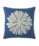 RugStudio presents Company C Asters Pillow Blue