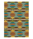 RugStudio presents Company C Telluride Turquoise Flat-Woven Area Rug