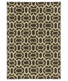 RugStudio presents Company C Labyrinth 68984 Black Bean Hand-Tufted, Good Quality Area Rug