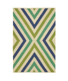 RugStudio presents Company C Chevron 19012 Capri Blue Woven Area Rug