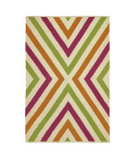 RugStudio presents Company C Chevron 19012 Fuchsia Woven Area Rug
