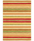 RugStudio presents Company C Sheffield Stripe 19045 Poppy Hand-Tufted, Best Quality Area Rug