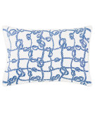 RugStudio presents Company C Throw Me A Line Pillow Capri Blue