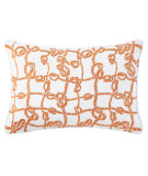 RugStudio presents Company C Throw Me A Line Pillow Tuscan Orange