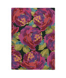 RugStudio presents Company C Roses 19063 Evergreen Hand-Tufted, Best Quality Area Rug