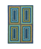 RugStudio presents Company C Quatro 80950 Aruba Blue Area Rug
