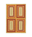RugStudio presents Company C Quatro 80951 Tuscan Orange Hand-Hooked Area Rug